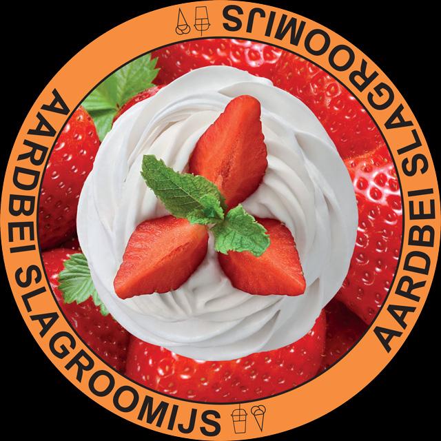 Slagroomijs Aardbeien
